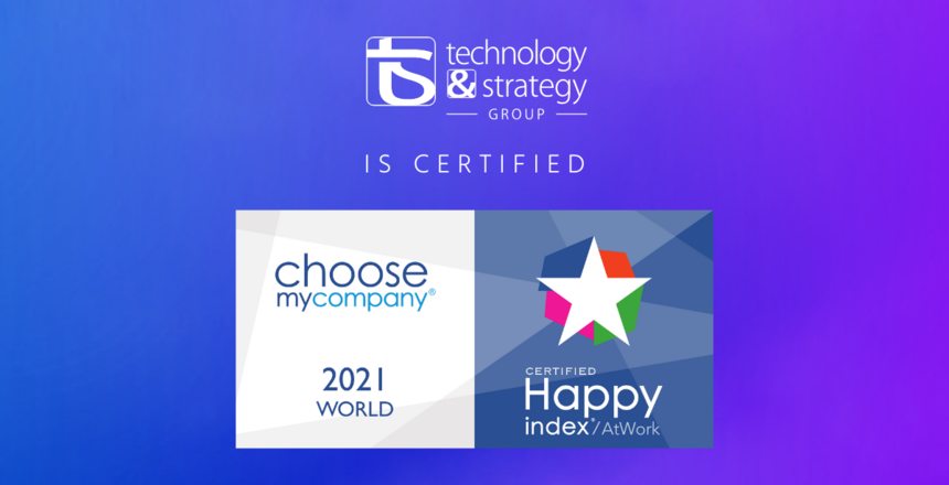 T&S certified HappyAtWork 2021 World