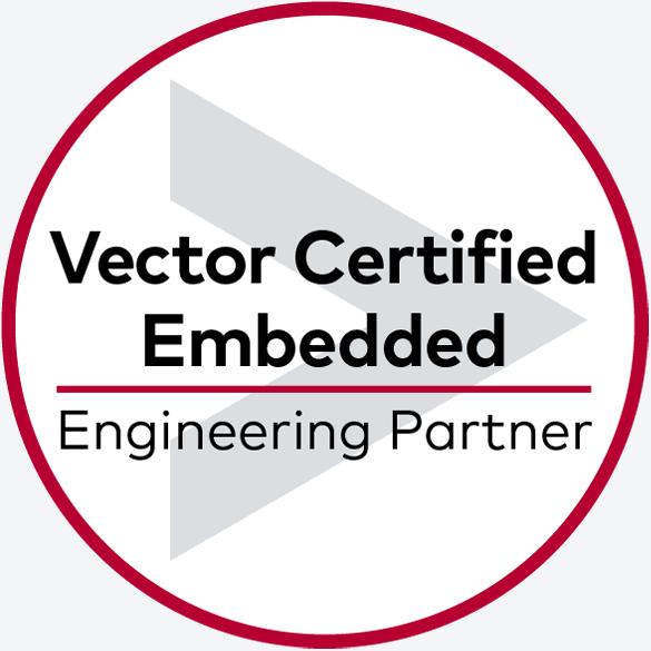 Médaille des partenaires officiels d'ingénierie embarquée certifié Vector